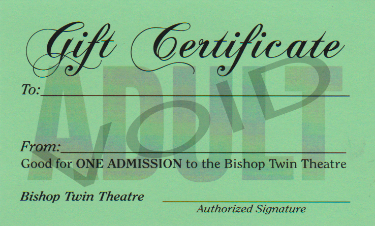 Gift Certificate - Adult